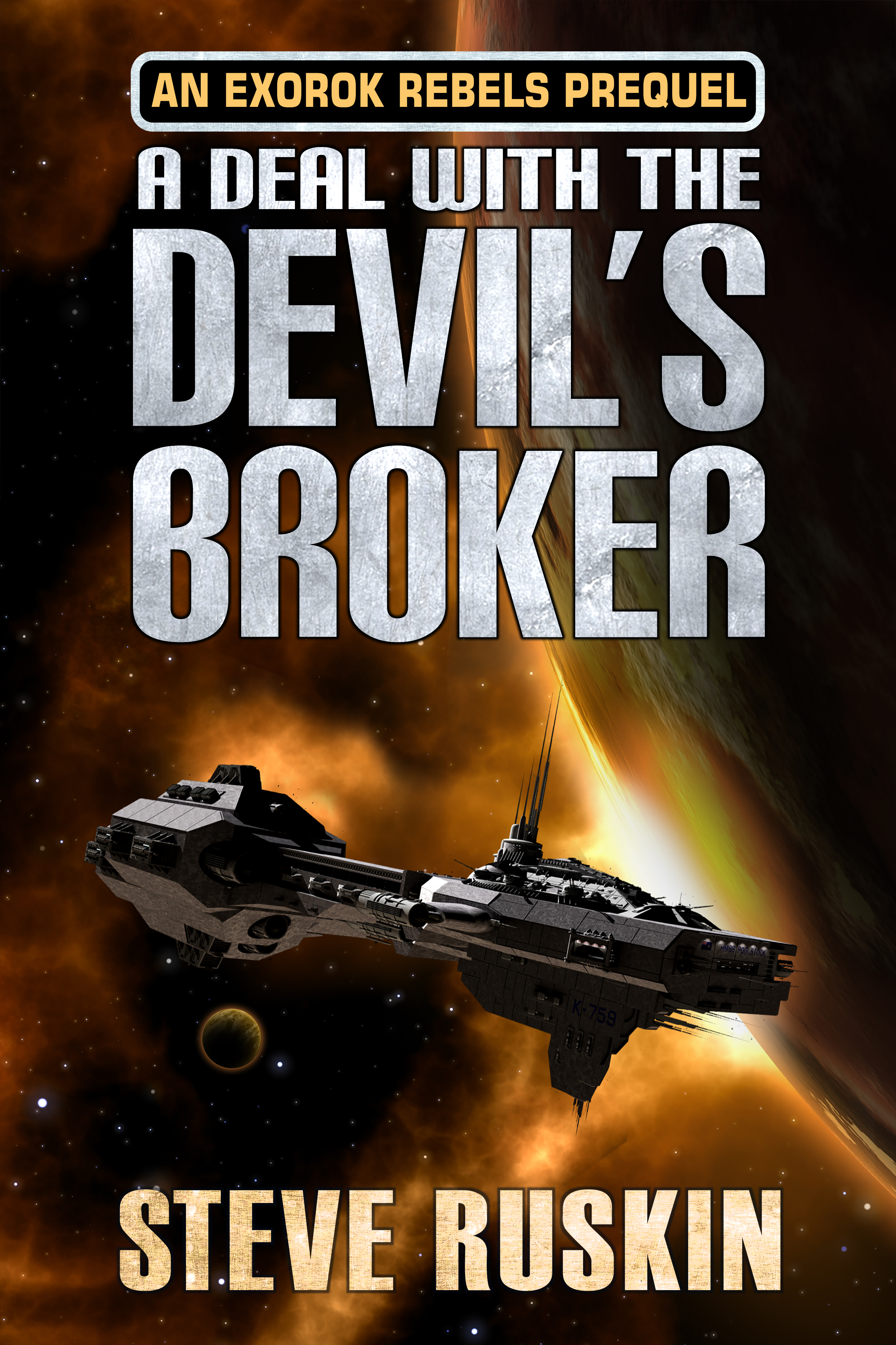 A Deal With The Devil's Broker cover design by Corvid Design