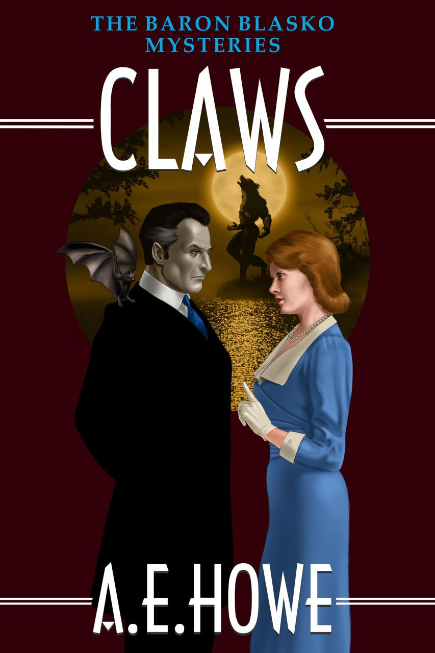 A.E. Howe - Claws book cover design by Corvid Design