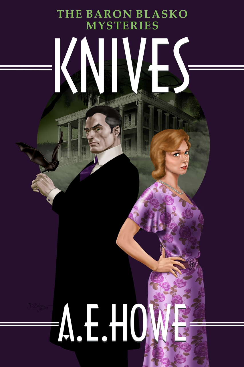 A.E. Howe - Knives book cover design by Corvid Design