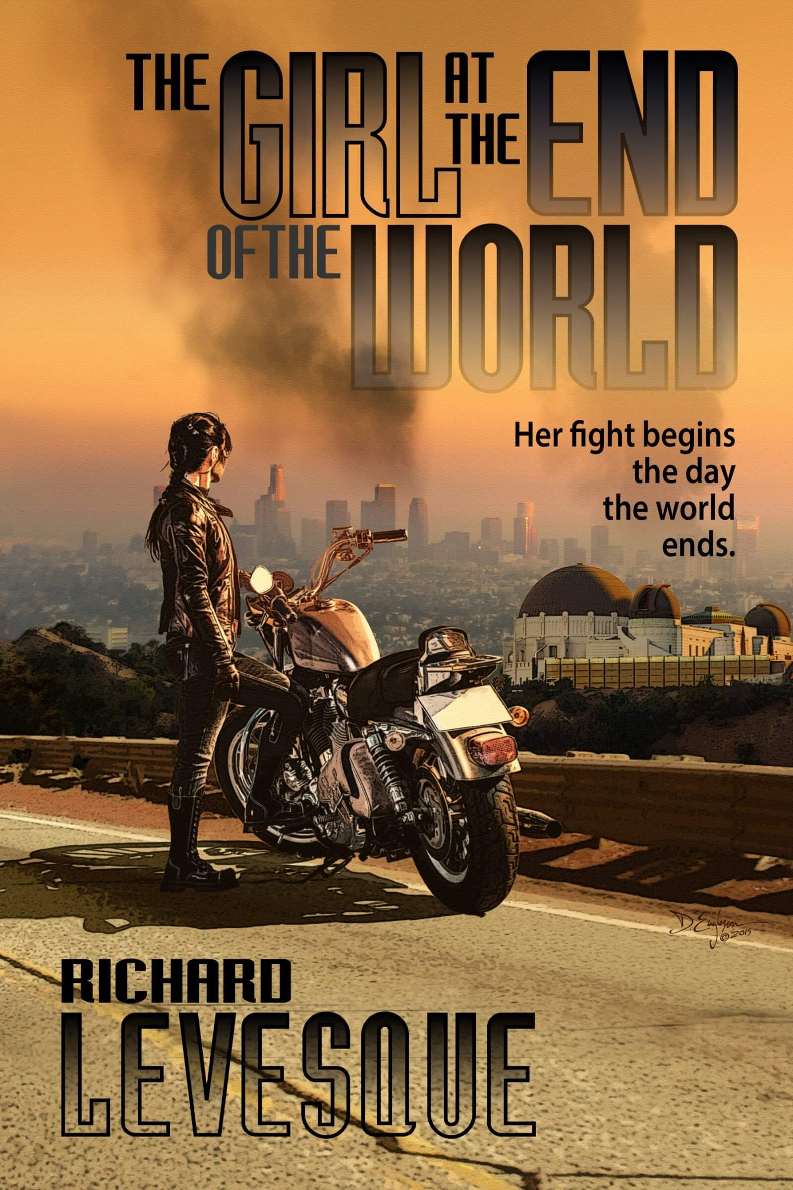 The Girl at the End of the World book cover design by Corvid Design