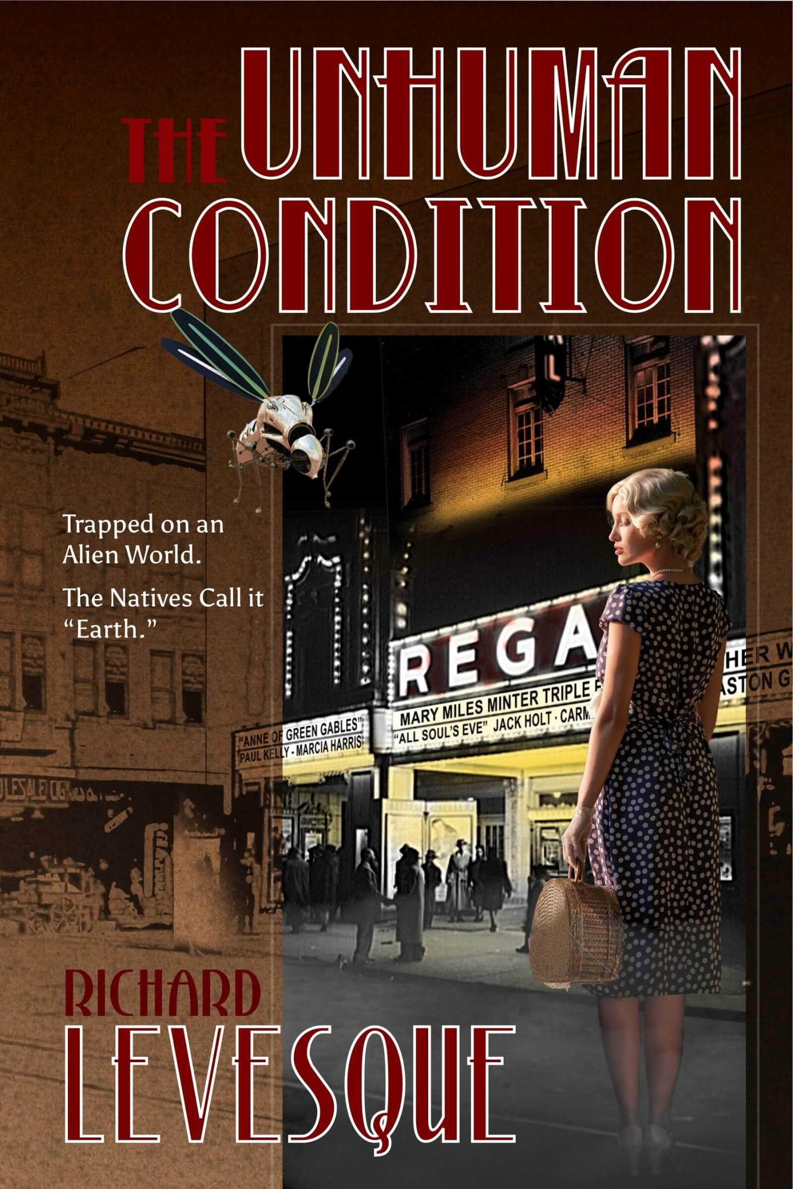 Unhuman Condition book cover design by Corvid Design