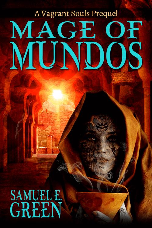 Mage of Mundos book cover design by Corvid Design