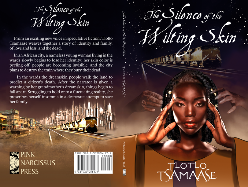 The Silence of the Wilting Skin book cover design by Corvid Design