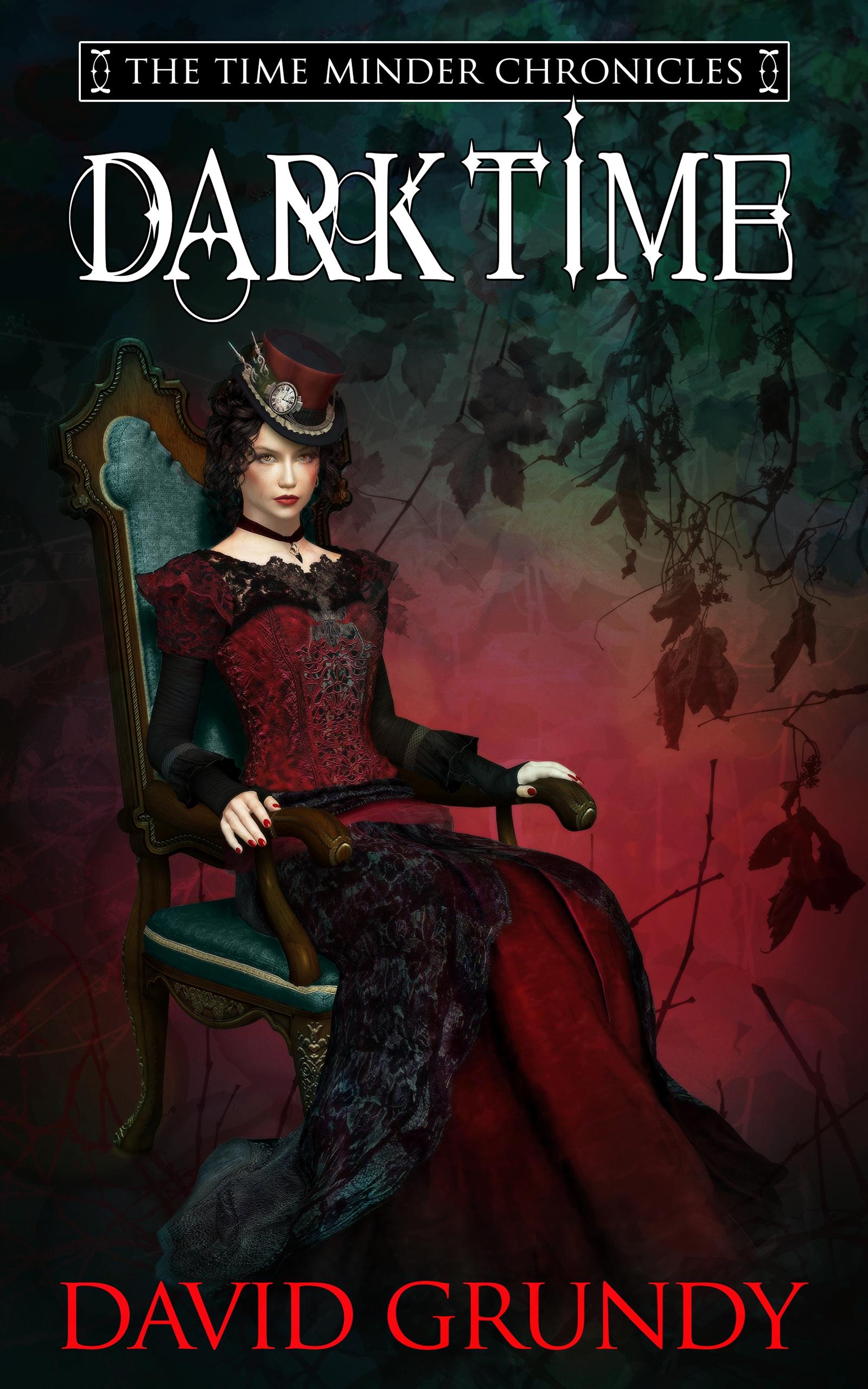 DarkTime book book cover design by Corvid Design