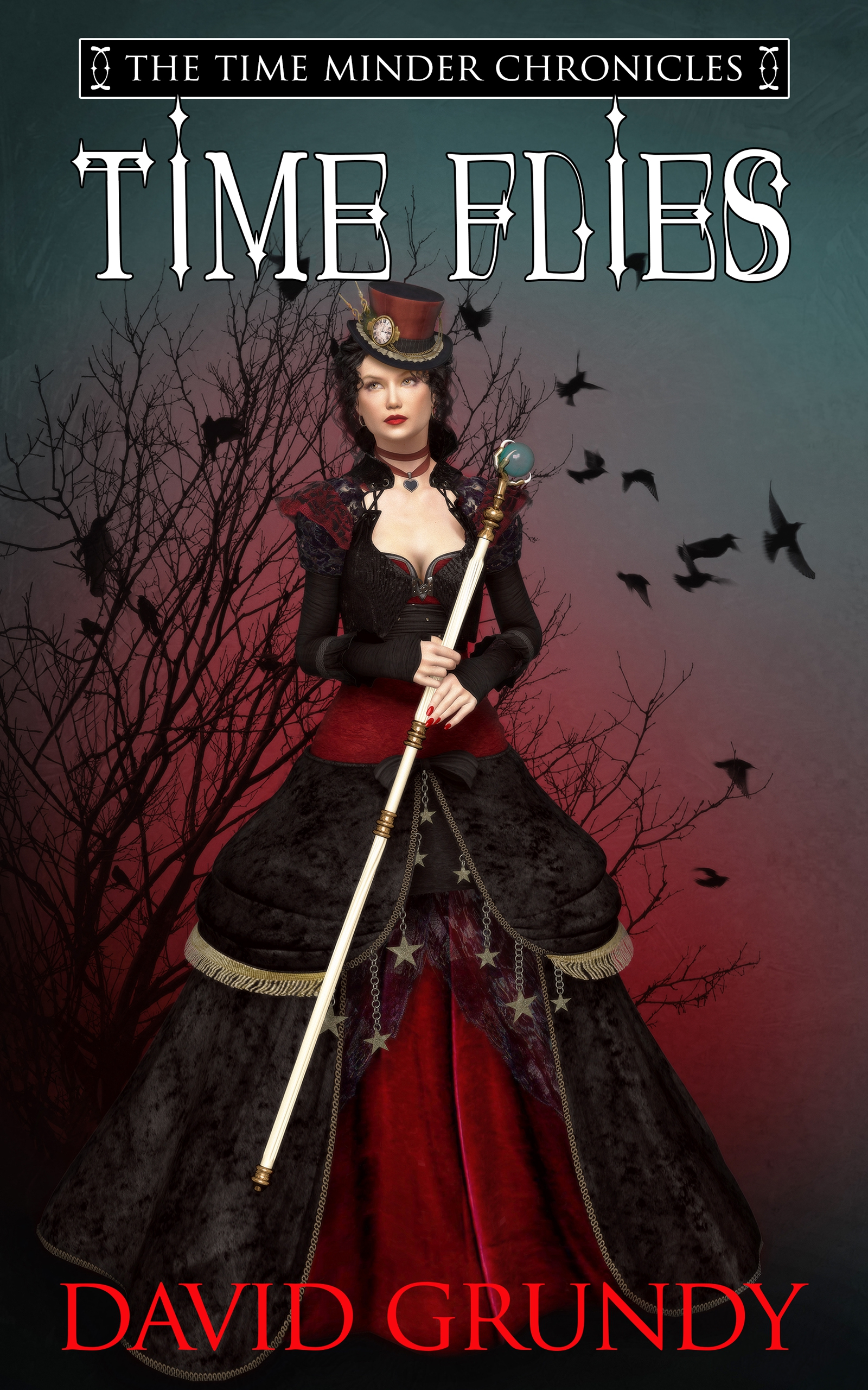 Time Flies book cover design by Corvid Design