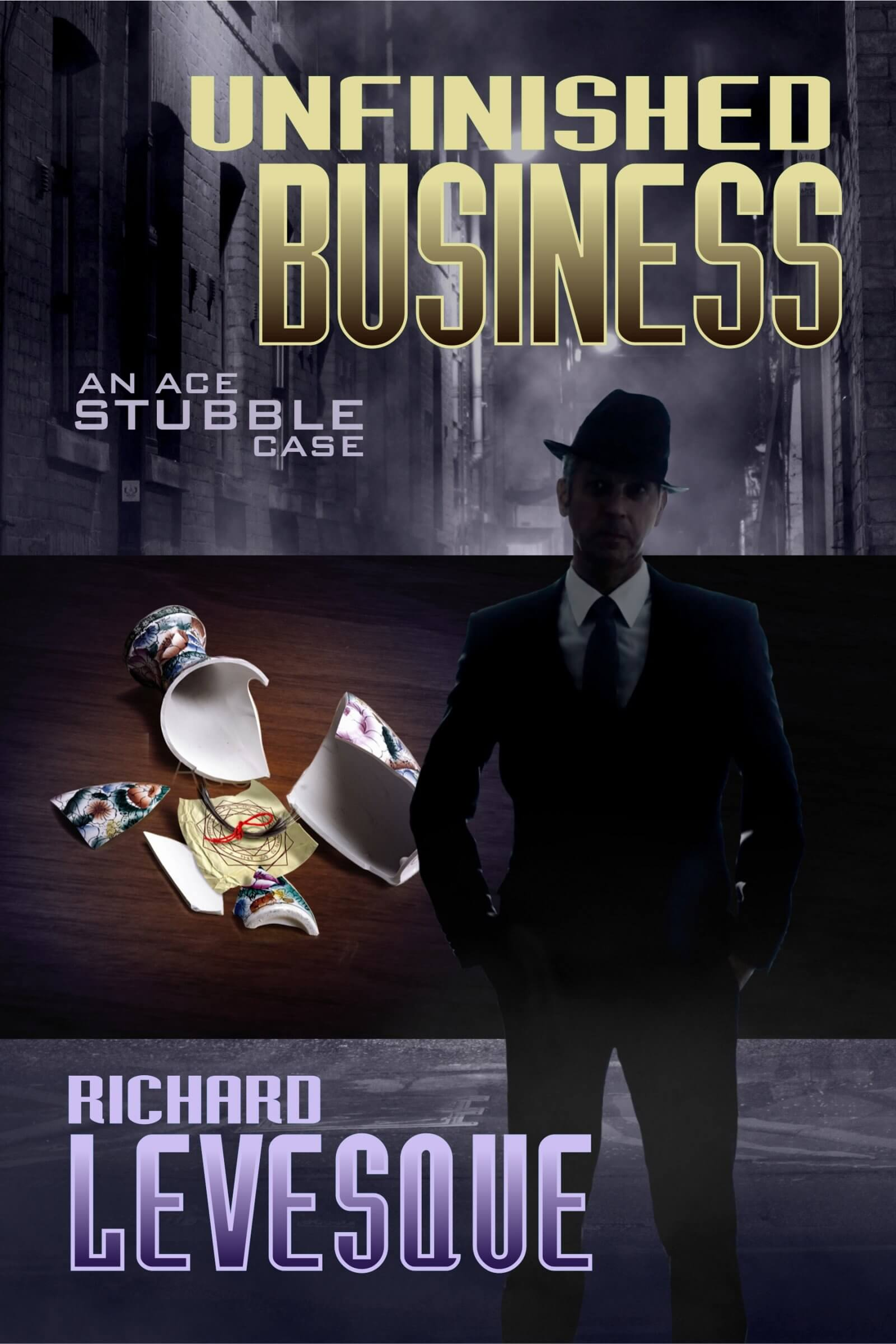 Unfinished Business book cover design by Corvid Design
