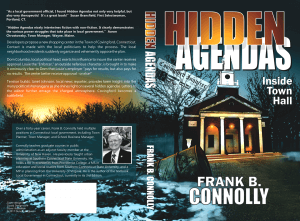 Hidden Agendas Insie Town Hall book cover design by Corvid Design