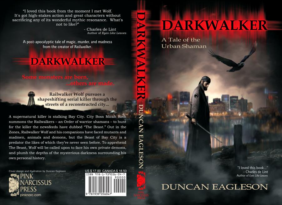 Darkwalker book cover design by Corvid Design