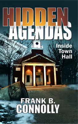 Hidden Agendas book cover design by Corvid Design