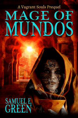 Mage of Mundos book cover design by Corvid Design