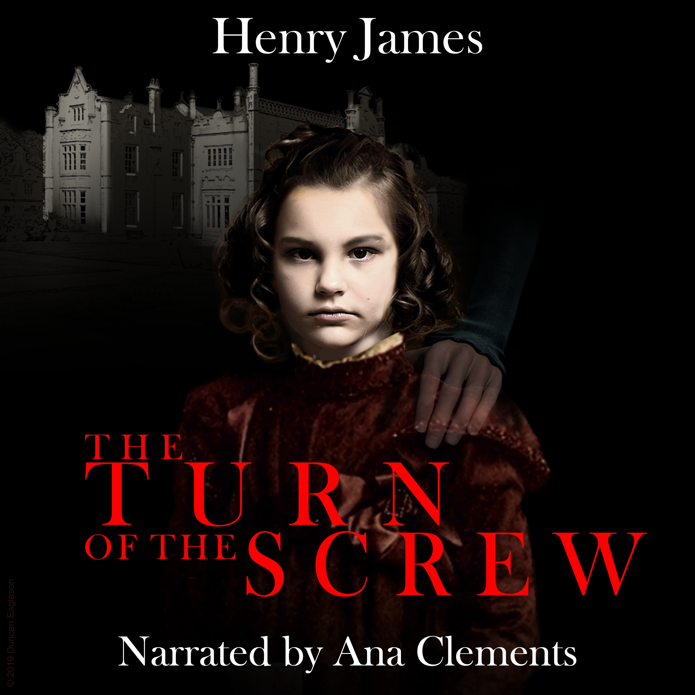 The Turn of the Screw Audio book cover design by Corvid Design