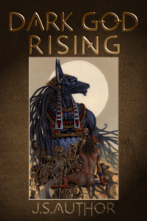 Dark God Rising Book cover design