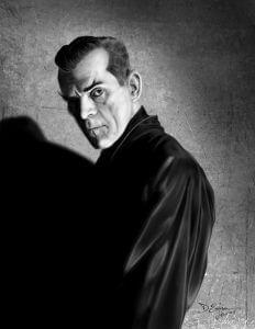 Inktober Boris Karloff by Duncan Eagleson